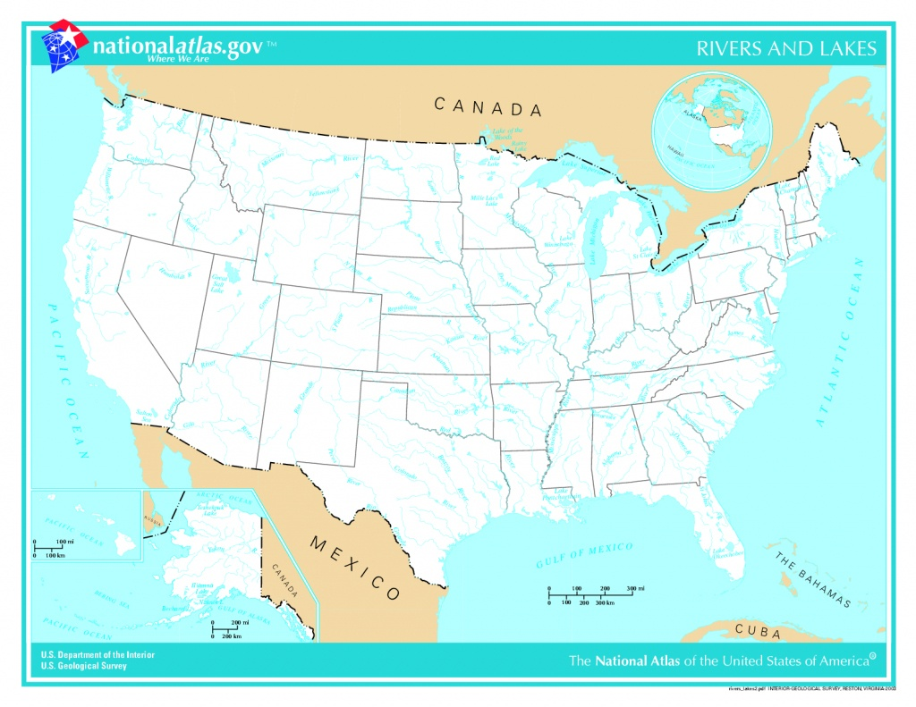 United States River Maps - Lgq - Us Rivers Map Printable