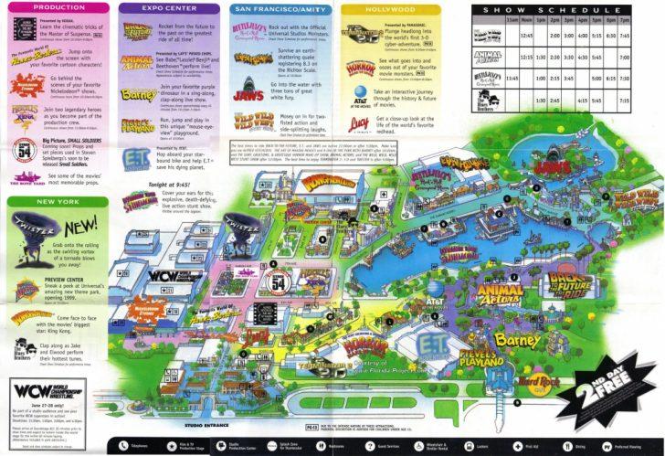 Universal Studios Florida Map 2017