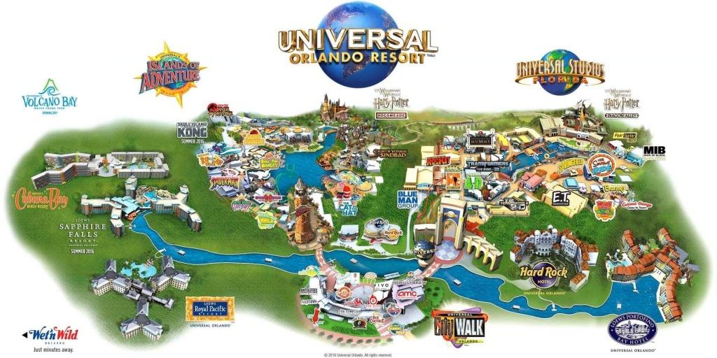 Universal Orlando Map - Map Of Universal Orlando (Florida - Usa) - Universal Orlando Florida Map