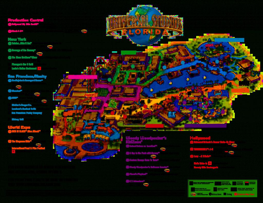 Universal Orlando Park Map 2013 | Orlando Theme Park News: Wdw - Florida Theme Parks On A Map