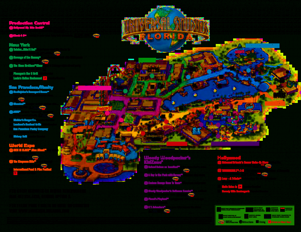 Universal Orlando Park Map 2013 | Orlando Theme Park News: Wdw - Universal Studios Florida Map 2017