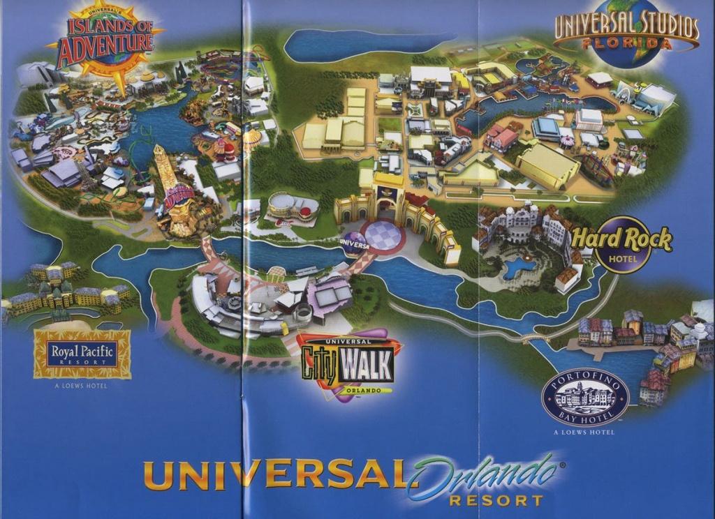 Universal Orlando Resort - 2008 Map | Theme Park Maps | Universal - Map Of Universal Studios Florida Hotels