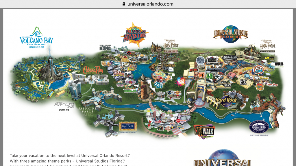 Universal Orlando Resort Map - Themeparkhipster - Universal Studios Florida Resort Map