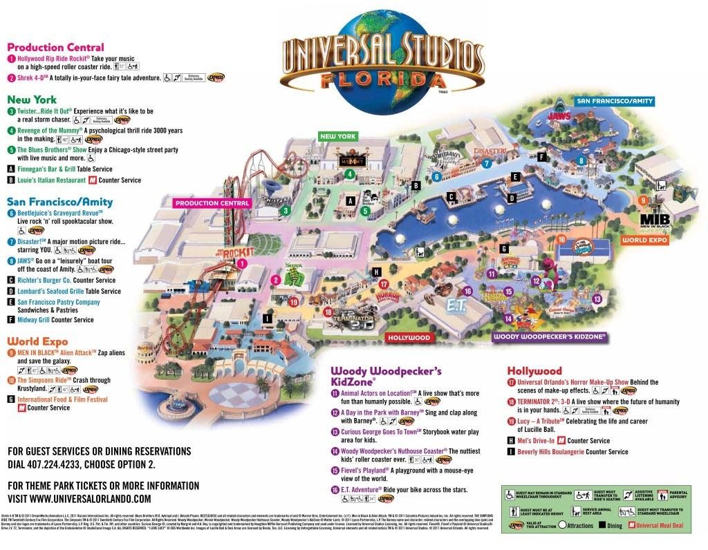 Universal Park Map | Florida Visit Ideas | Universal Studios Florida - Orlando Florida Universal Studios Map