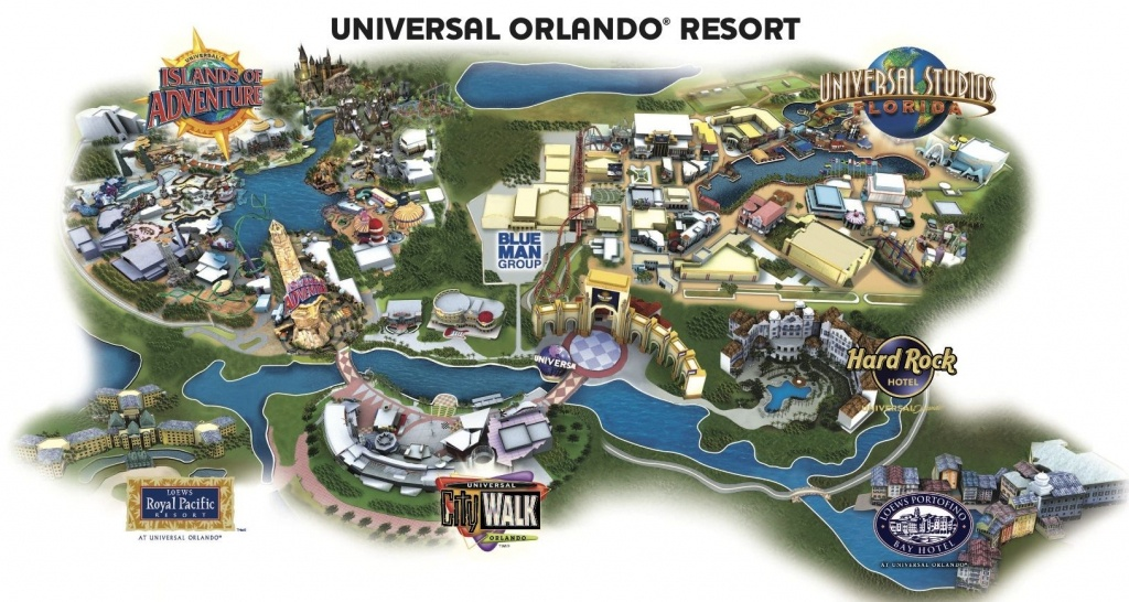 Universal Resort Map. Staying At Hard Rock Hotel Means You're Close - Florida Map Hotels