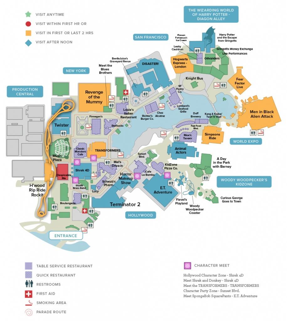 Universal & Seaworld Orlando Touring Plans - Printable Map Of Universal Studios Orlando