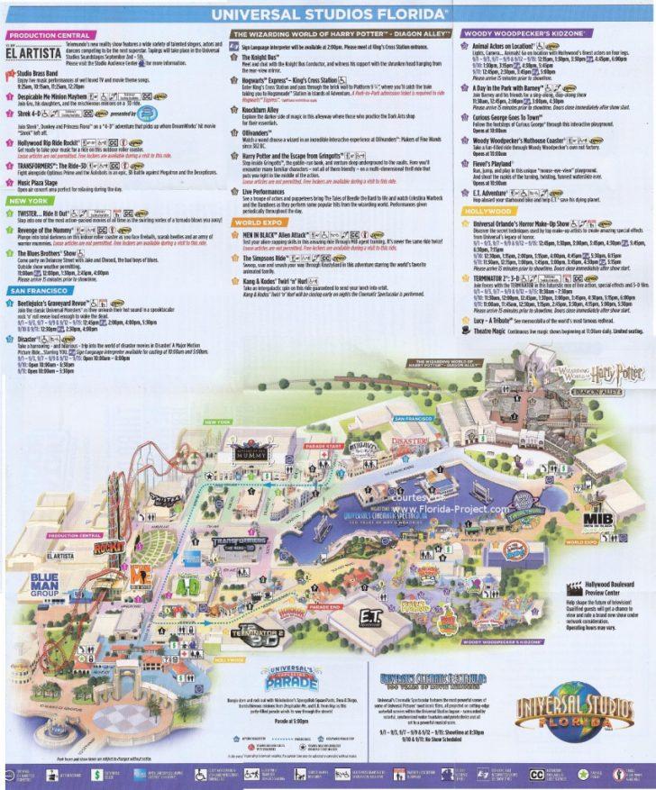 Universal Studios Florida Map 2018
