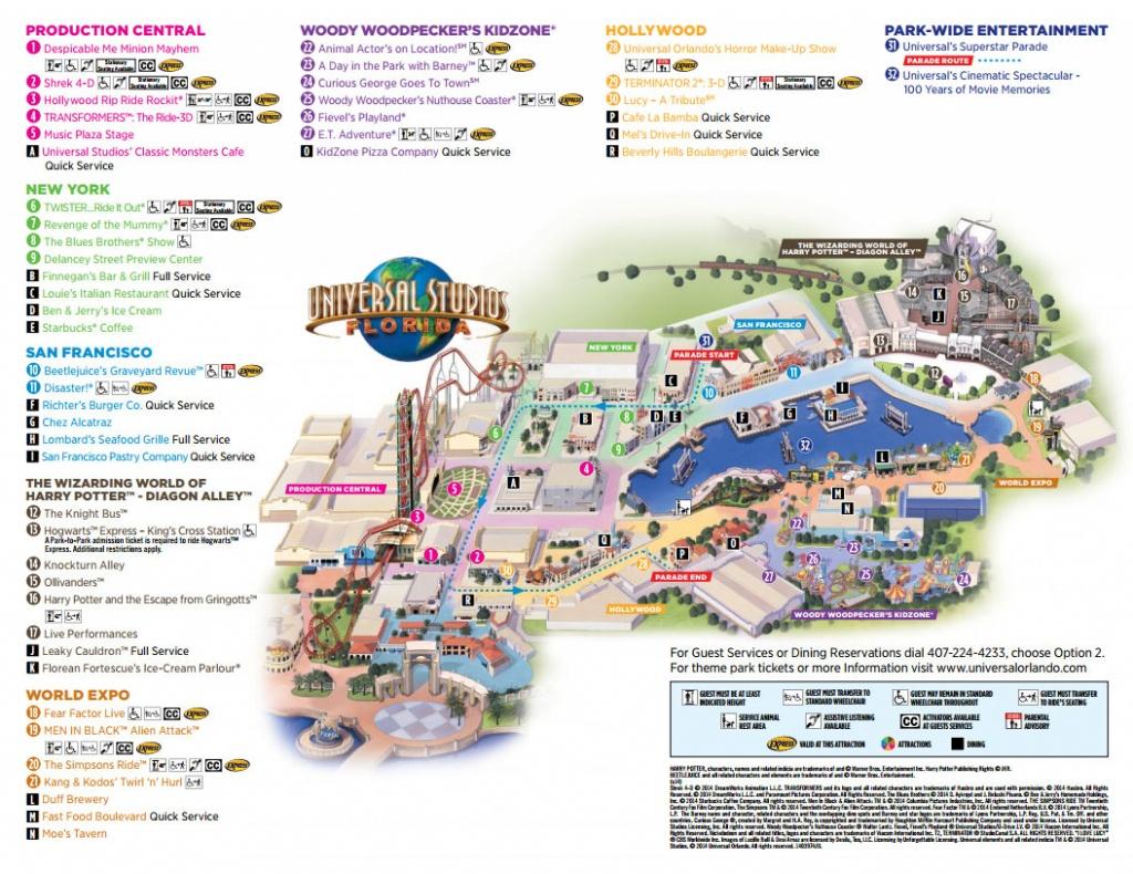 Universal Studios Florida Map 2016 | Autobedrijfmaatje - Universal Studios Florida Map