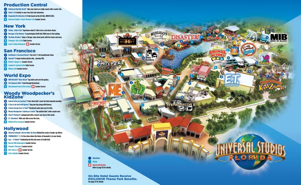 Universal Studios Florida Map - Universal Studios Orlando Park Map - Universal Studios Florida Park Map