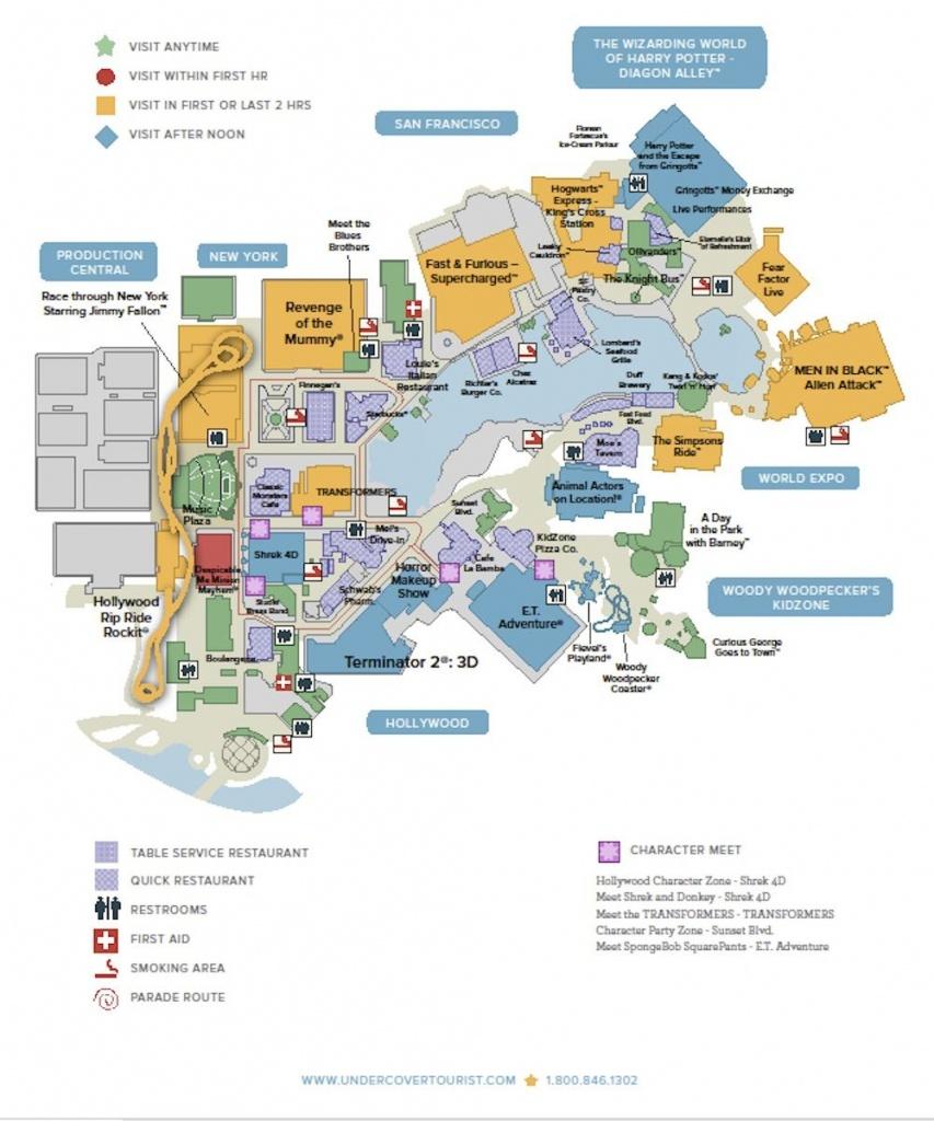 Universal Studios Floridatm General Map   Orlando 2018 (Wdw + Hp - Universal Parks Florida Map