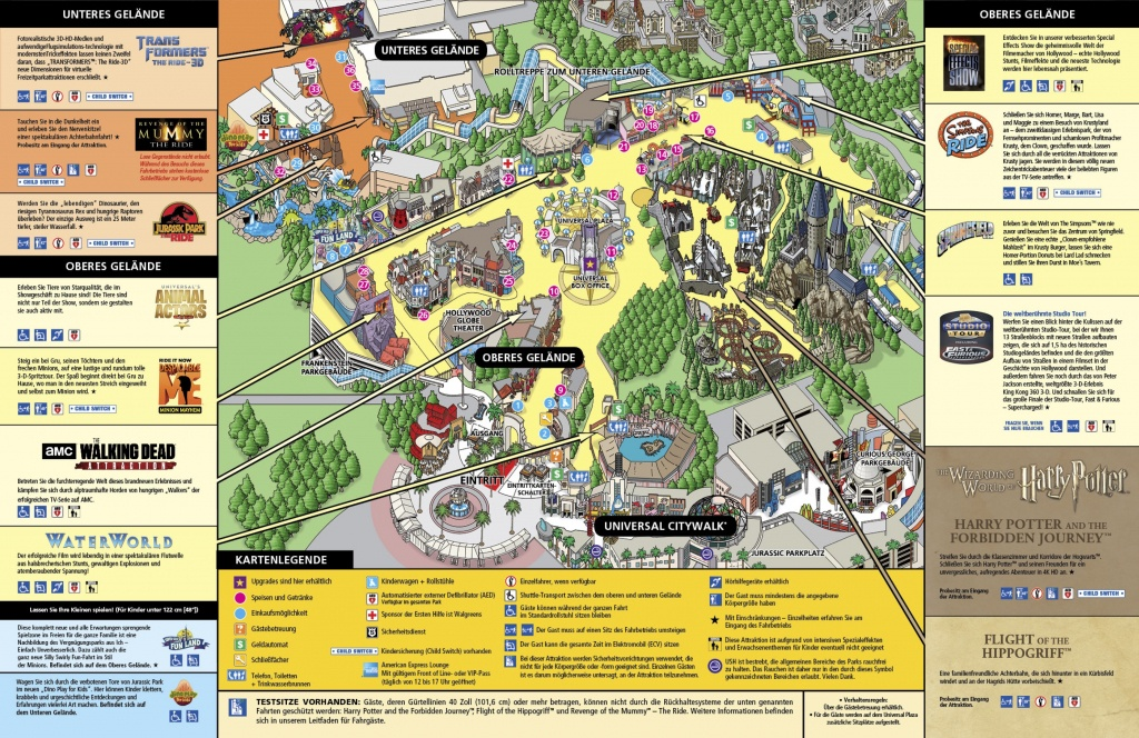 Universal Studios Hollywood Map 1 - Squarectomy - Universal Studios California Map