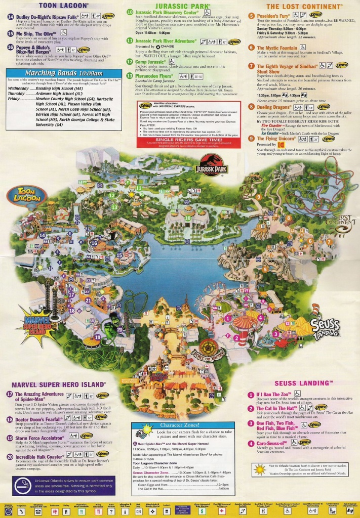 Universal Studios Orlando Map Of Area | Universal Studios Guide Map - Universal Florida Park Map