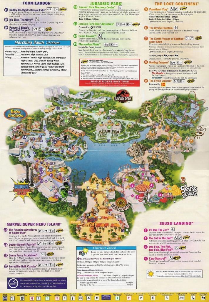 Universal Studios Orlando Map Of Area   Universal Studios Guide Map - Universal Studios Florida Map 2018