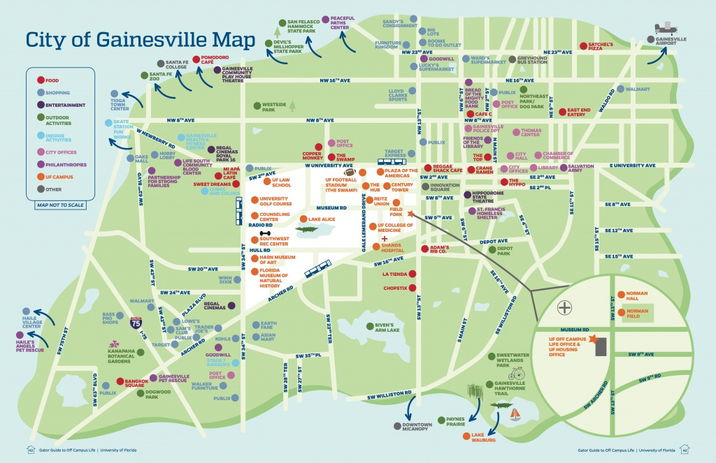 University Of Florida Off Campus Life - Christina Singer - Map Of - Map Of Gainesville Florida Area