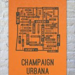 University Of Illinois Champaign Urbana Fighting Illini Poster Print   Printable Map Of Champaign Il