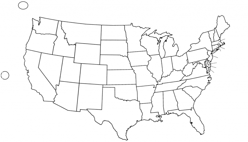 Unlabeled United States Map Us Quiz Fresh Blank - Us Map Unlabeled Printable