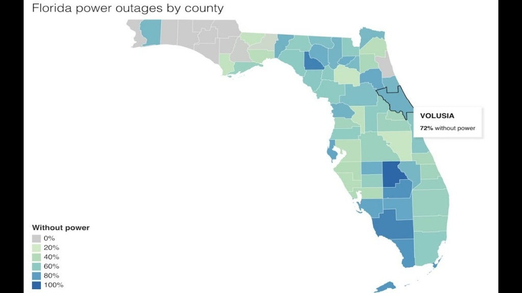 Update: Irma/florida Power Outage Map And How Long Repairs Could - Florida Power Outage Map