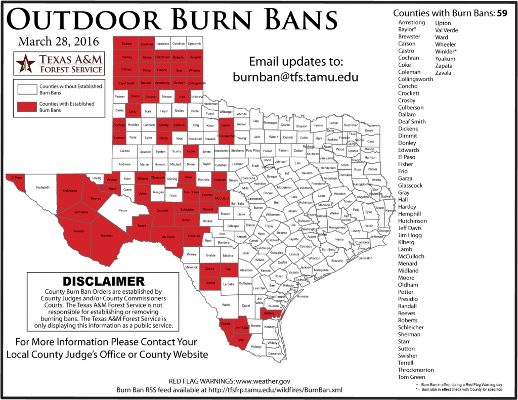 Updated Burn Ban Map For West Texas - Burn Ban Map Of Texas