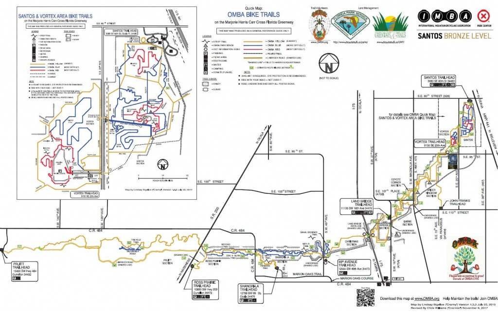 Updated Santos Trail Map | Greenway Bicycles - Florida Bike Trails Map