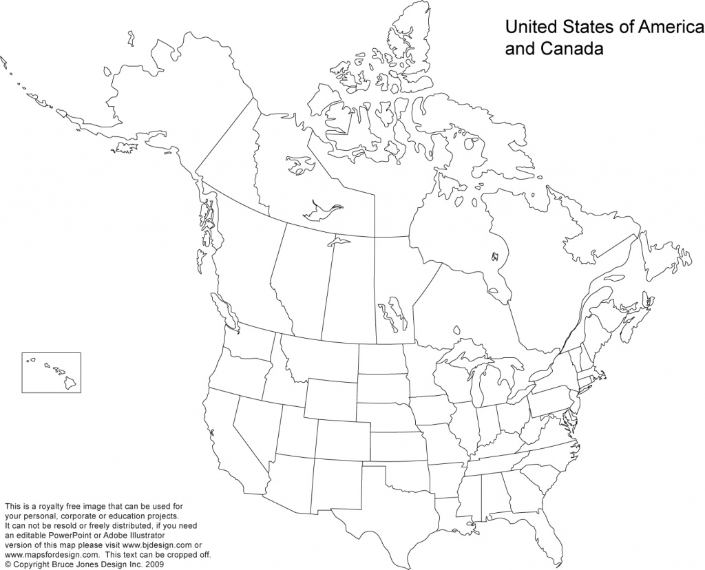 Us And Canada Printable, Blank Maps, Royalty Free • Clip Art - Blank Us And Canada Map Printable