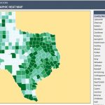 Us Counties Heat Map Generators   Automatic Coloring   Editable Shapes   Texas Population Heat Map