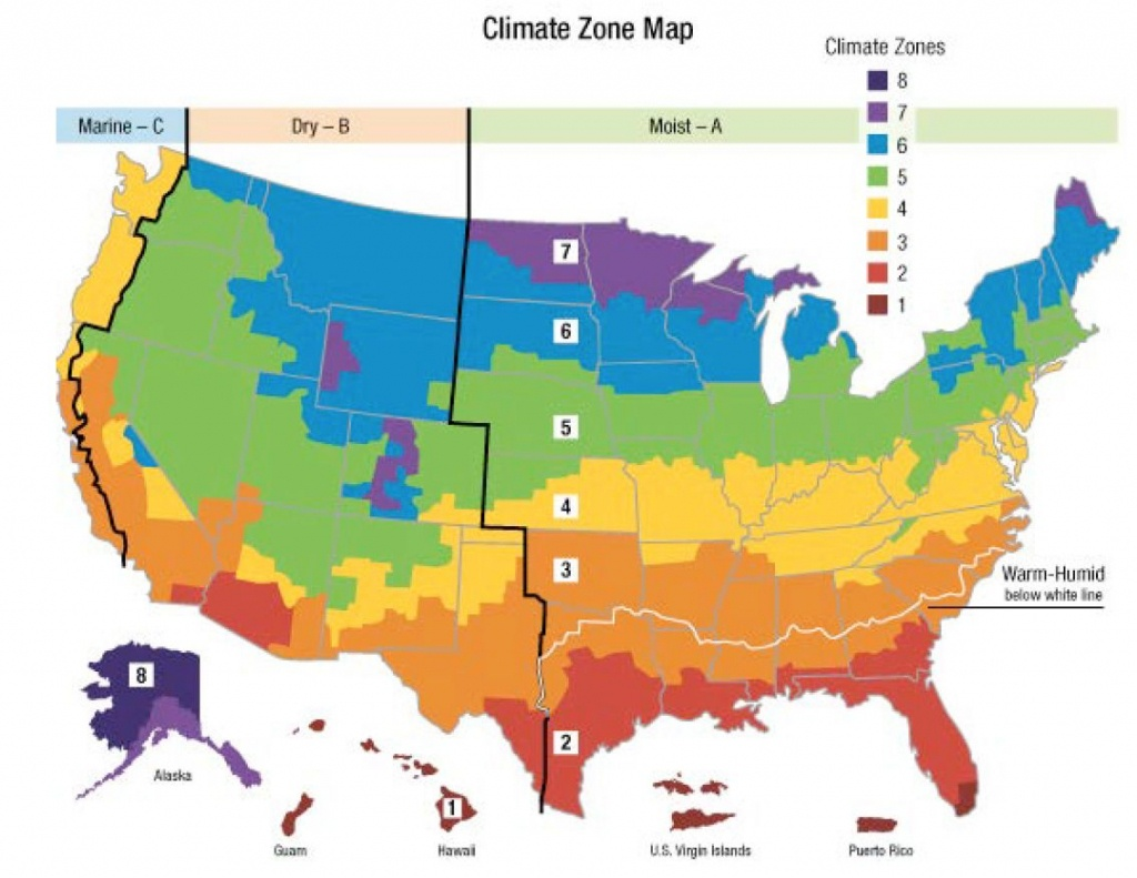 Us Heating Climate Zone Map 15 | Mapweb | Map, Weather, Climate - Florida Building Code Climate Zone Map