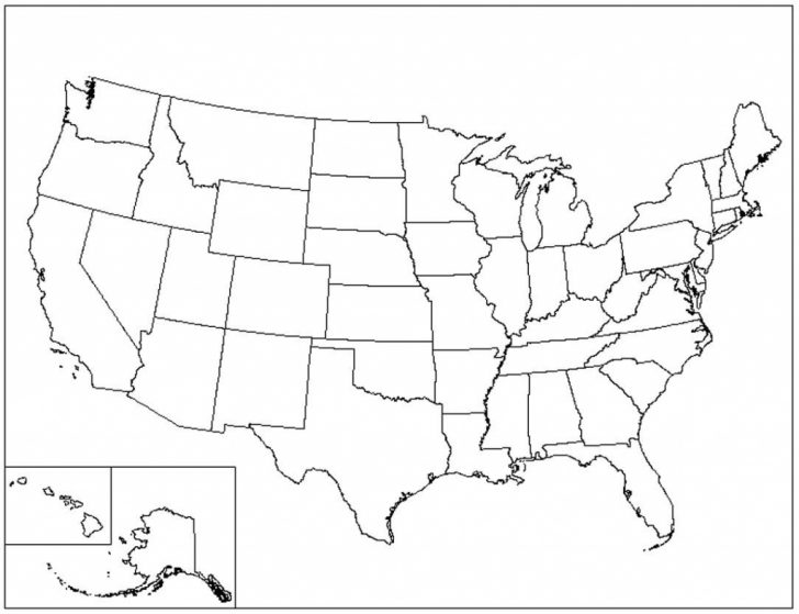 Blank Us Map Printable