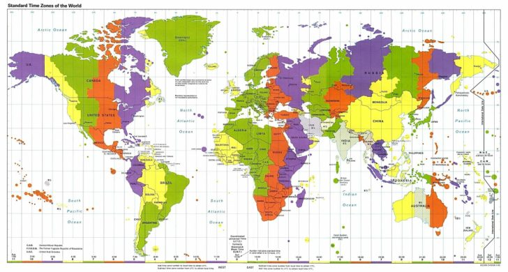 Printable Us Time Zone Map With Cities