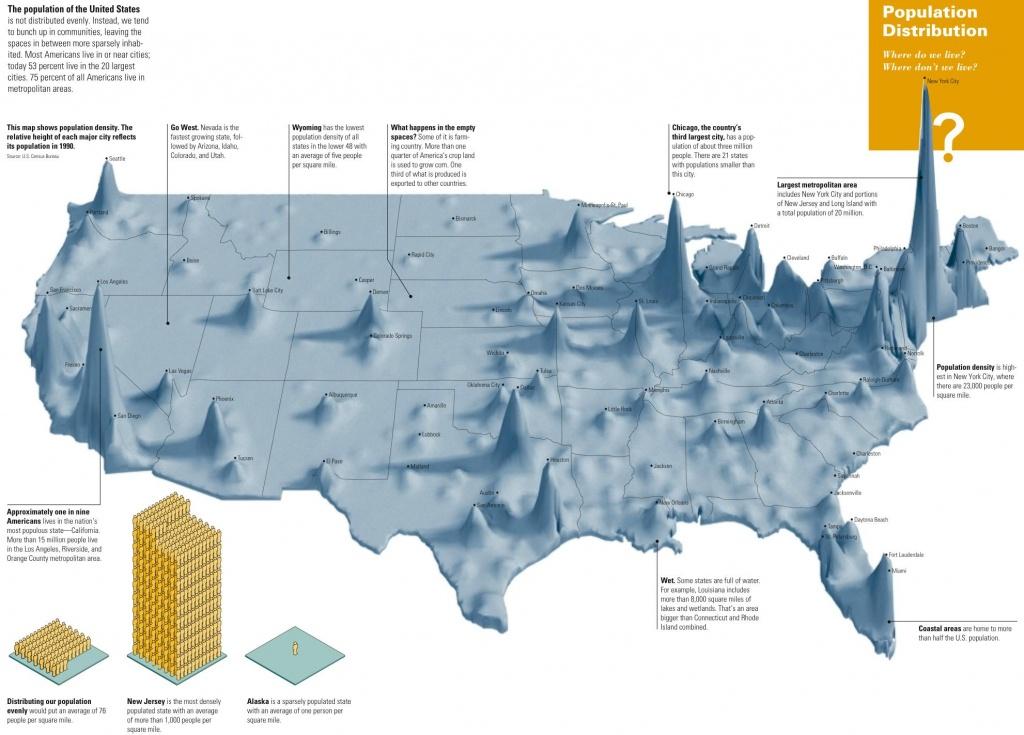 Us Population Density Map [1982 X 1423] : Mapporn - Texas Population Heat Map