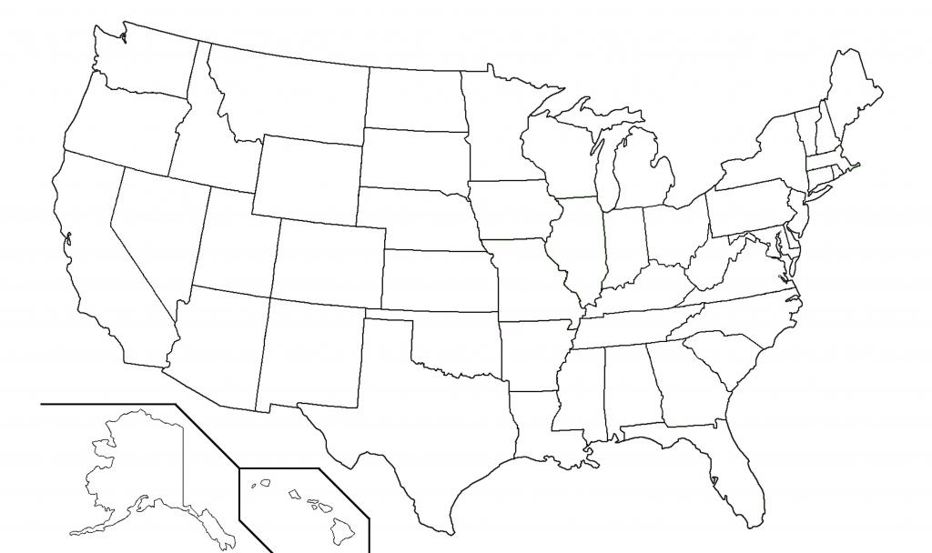 Us State Map Quiz Printable Elegant Blank Map United States Quiz - Printable 50 States Map
