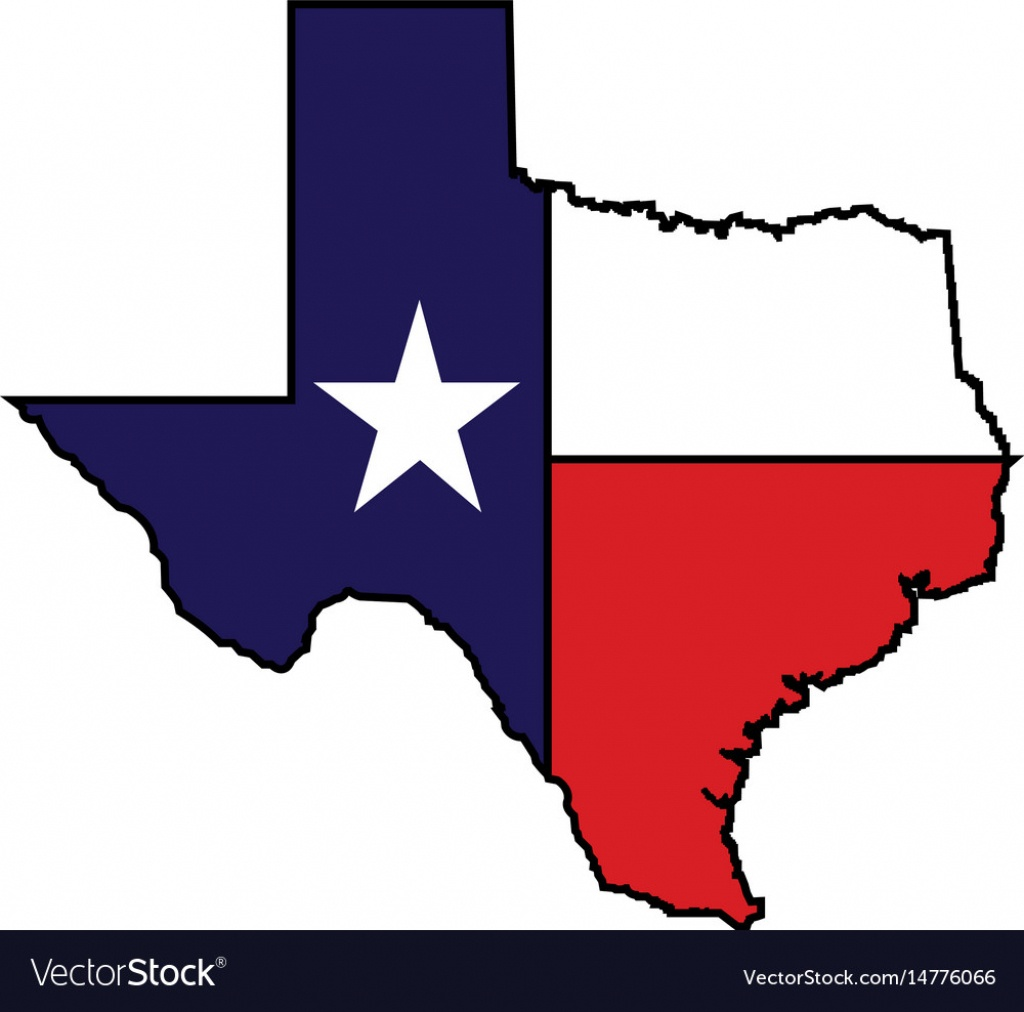 Us State Of Texas Map Logo Design Royalty Free Vector Image - Free Texas Map