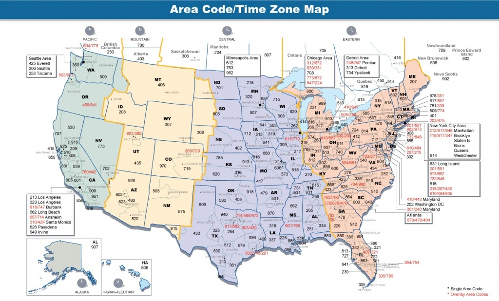 Us Time Zone Map Detailed - Maplewebandpc - Printable Usa Map With States And Timezones