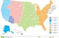 Us Time Zones Map With States Printable