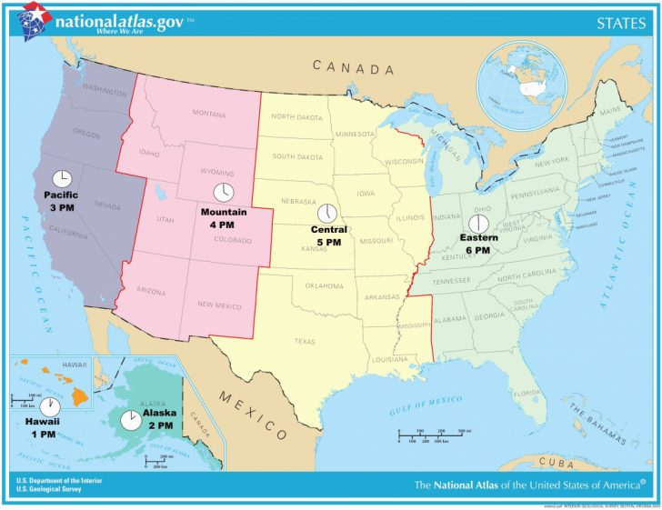 Printable Us Time Zone Map