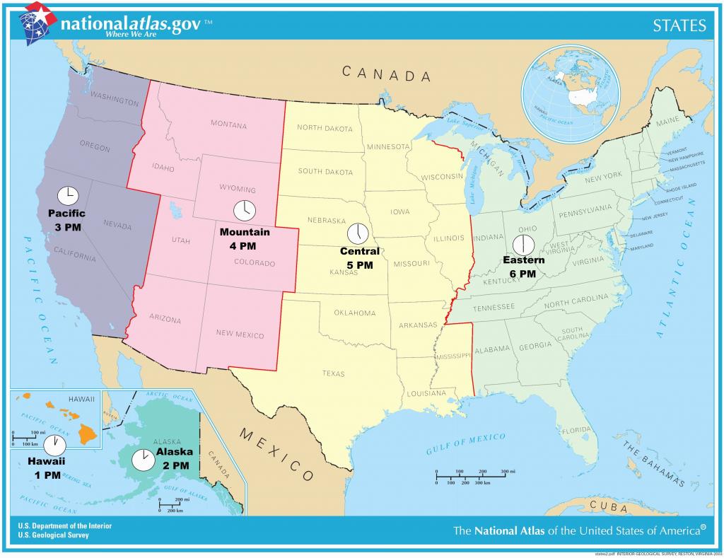 Us Timezone Map With States Timezonemap Beautiful Time Zone Maps - Printable Us Time Zone Map