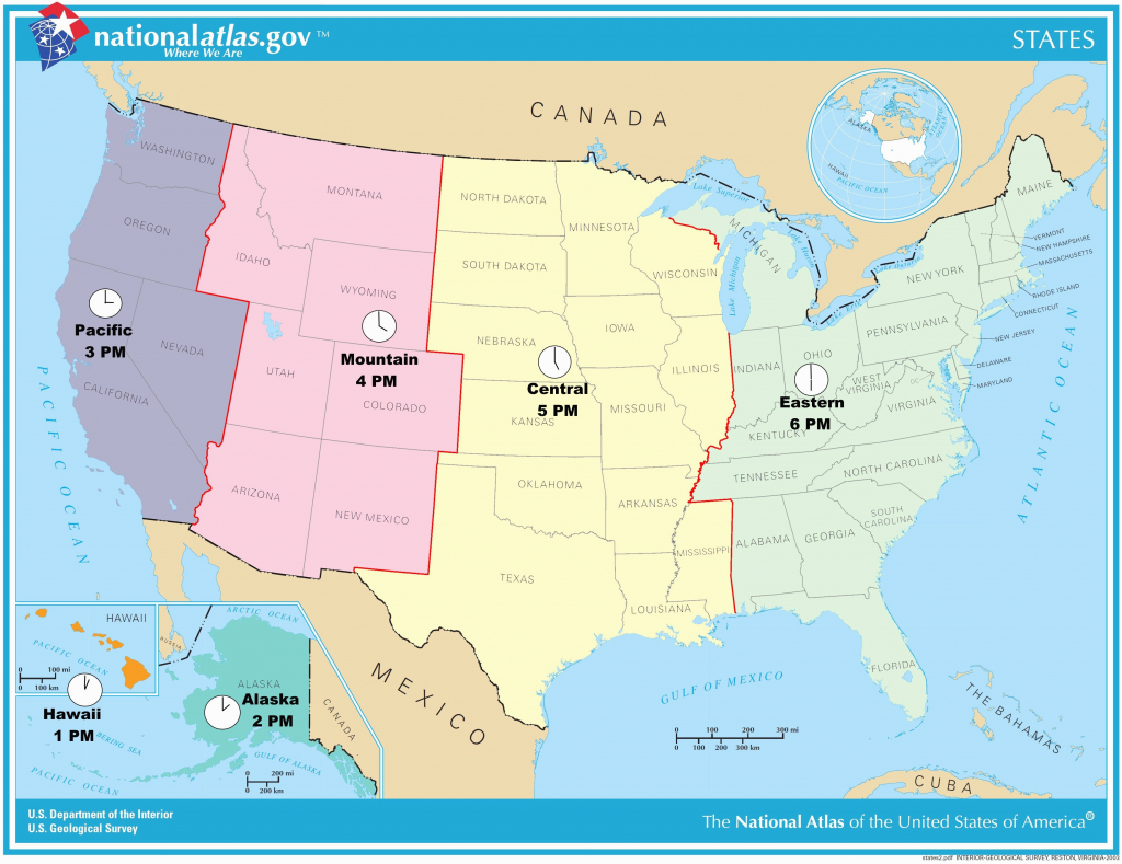 Us Timezone Map With States Timezonemap Beautiful Time Zone Maps - Printable Usa Map With States And Timezones