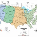 Usa Area Code And Time Zone Wall Map   Maps   Printable Time Zone Map Usa And Canada