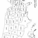 Usa Coloring Page   Labeled With States Names   From Print Color Fun   Us Map With States Labeled Printable