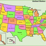 Usa States And Capitals Map   Printable Us Map With States And Capitals
