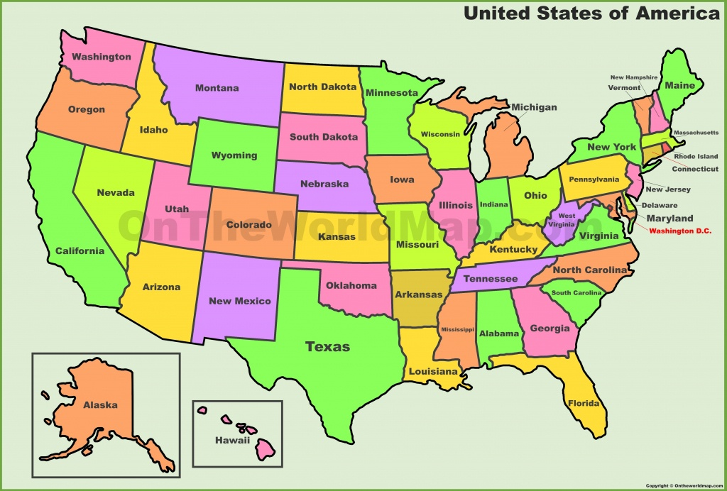 Usa States Map   List Of U.s. States - Free Printable United States Map With State Names