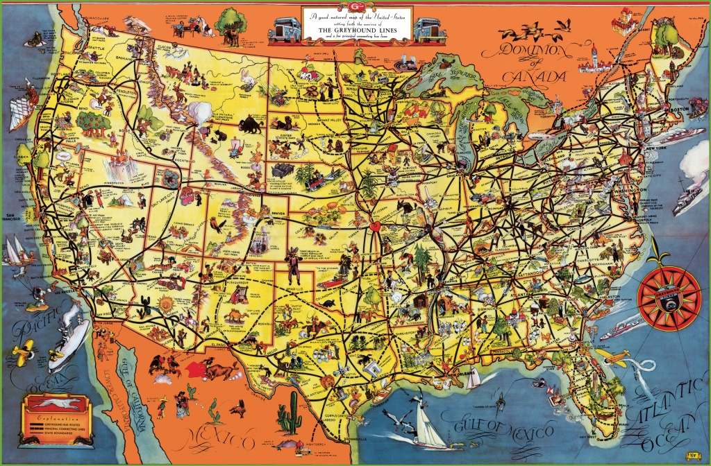 Usa Tourist Map - Texas Sightseeing Map