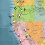 Usa West Coast Road Trip Guide (July 2019)   Seattle To California Road Trip Map