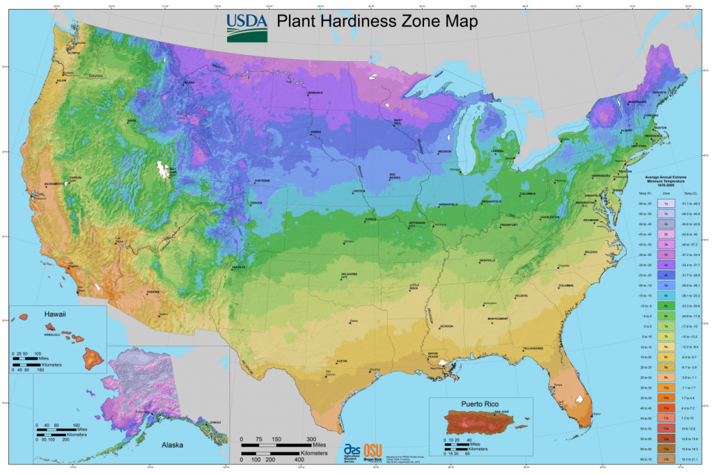 Usda Planting Zones For The U.s. And Canada | The Old Farmer's Almanac - California Heat Zone Map