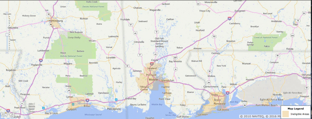 Usda Rural Development Loan - Mobile, Al - Usa Home Financing - Usda Eligibility Map For Florida