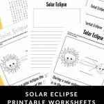 Use These Solar Eclipse Printable Worksheets To Make The Most Of The   Printable Eclipse Map