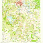 Usgs 1:24000 Scale Quadrangle For Dade City, Fl 1960   Map Of Florida Showing Dade City
