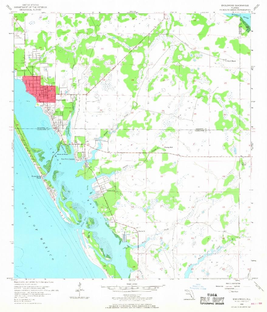 Usgs 1:24000-Scale Quadrangle For Englewood, Fl 1956 - Englewood Florida Map
