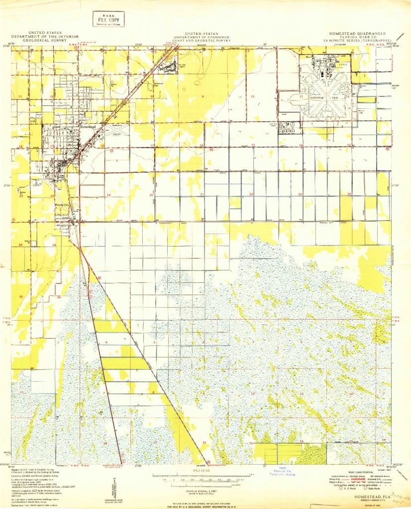 Usgs 1:24000-Scale Quadrangle For Homestead, Fl 1950 - Homestead Florida Map