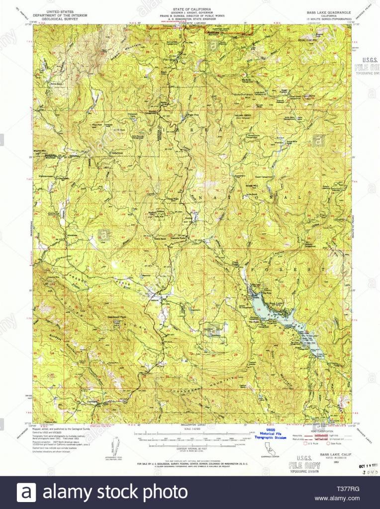 Usgs Topo Map California Ca Bass Lake 296781 1953 62500 Restoration - Bass Lake California Map