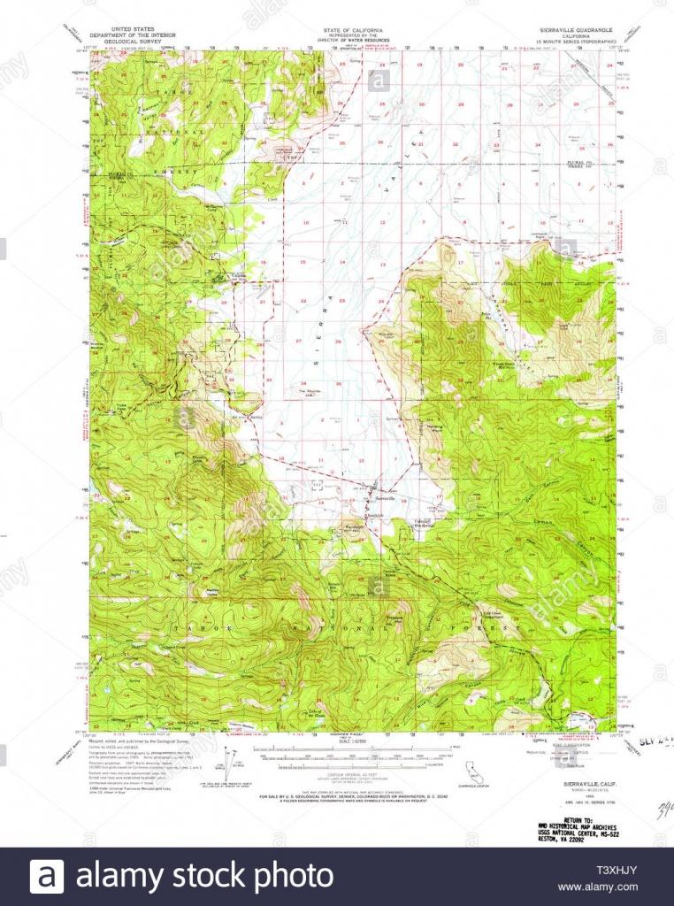 Usgs Topo Map California Ca Sierraville 301719 1955 62500 - Usgs Maps California